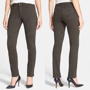 NYDJ Sheri Stretch Skinny Jeans Green Size 10P